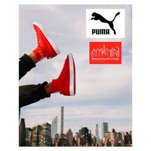 PUMA Men's Clyde Sock Manhattan Portage Shoes